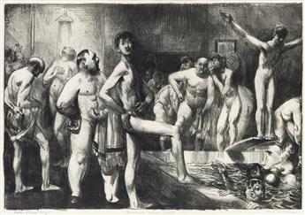 GEORGE BELLOWS Business-Mens Bath.