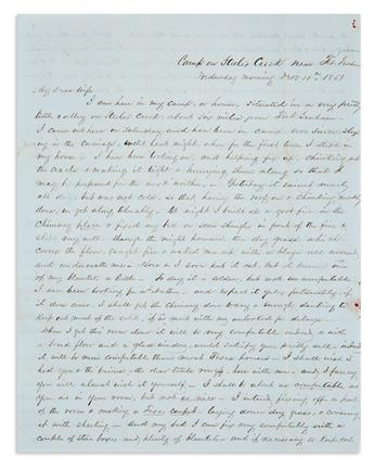 (TEXAS.) Letter describing the construction of an Indian trading post on the western frontier.