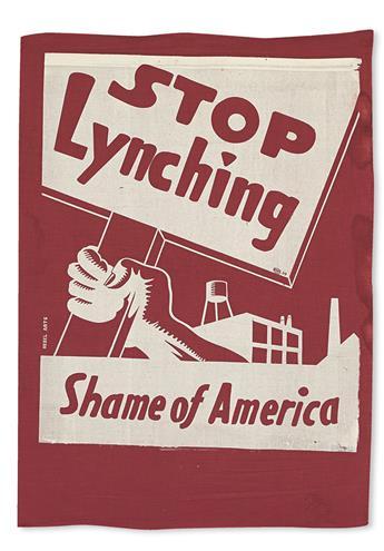 (CIVIL RIGHTS--LYNCHING.) NAACP. Stop Lynching.