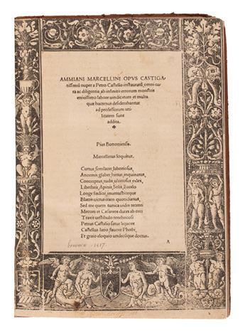 AMMIANUS MARCELLINUS. Ammiani Marcellini Opus castigatissimum.  1517