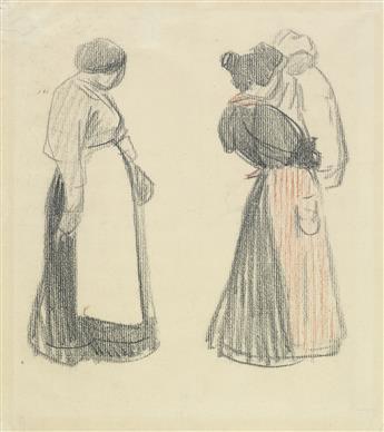 THÉOPHILE-ALEXANDRE STEINLEN (Lausanne 1859-1923 Paris) Studies of Normandy Women.