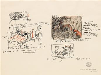 LUDWIG BEMELMANS. In the Middle of the Night - George the Gardner [sic] Lit a Light...