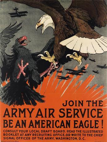 CHARLES LIVINGSTON BULL (1874-1932). JOIN THE ARMY AIR SERVICE. Circa 1917. 27x20 inches, 68x52 cm. Alpha Litho Co. Inc., New York.