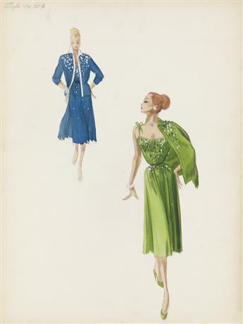 (FASHION) MARY ANN NYBERG. Evening Wear.