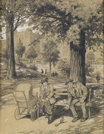 EGBERT NORMAN CLARK. Lunchtime in Central Park.