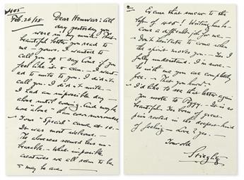 STIEGLITZ, ALFRED. Group of 5 Autograph Letters Signed, Stieglitz, to Henwar Rodakiewicz,