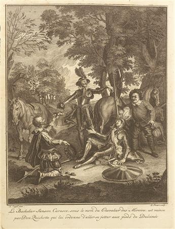 CERVANTES SAAVEDRA, MIGUEL DE. Les principales aventures de l'admirable Don Quichotte, représentées en figures par Coypel, Picart le ro