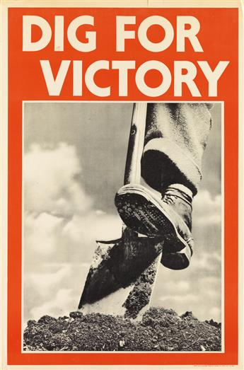 DESIGNER UNKNOWN. DIG FOR VICTORY. 1939. 29x20 inches, 75x50 cm. J. Weiner, London.