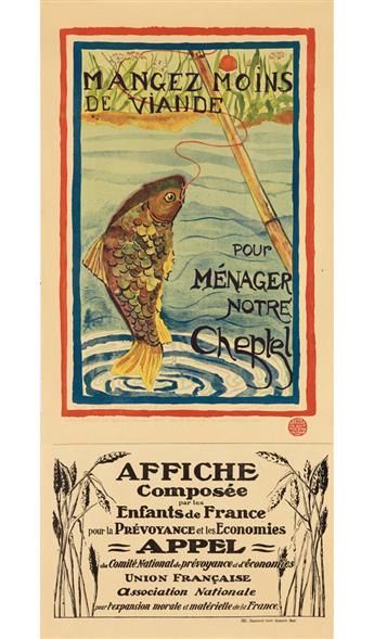 VARIOUS ARTISTS. [LES ENFANTS DE FRANCE.] Group of 3 posters. 1916-1918. Sizes vary. Union Française, Paris.