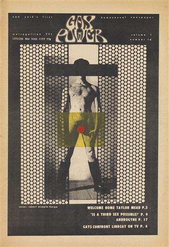 ROBERT MAPPLETHORPE (1946-1989)  Gay Power. Volume 1, number 16.