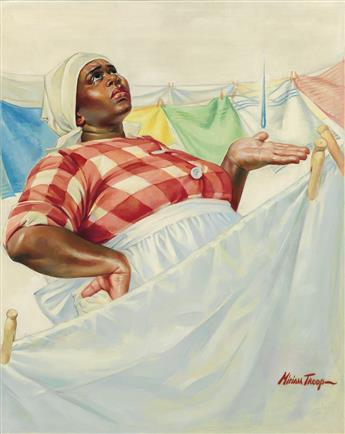 MIRIAM TROOP. (SATURDAY EVENING POST) Rain on Laundry Day.