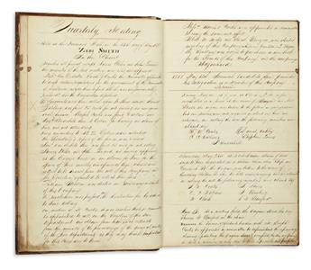 (NEW YORK CITY.) Manuscript record book of a volunteer fire company.