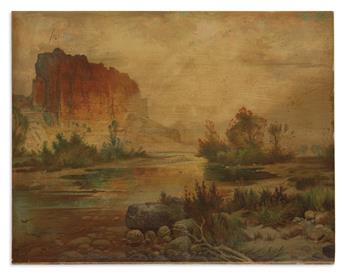 MORAN, THOMAS. The Cliffs of Green River.