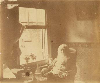 THOMAS EAKINS, attributed to (1844-1916) Portrait of Walt Whitman, Camden.
