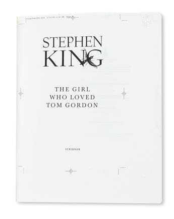 KING, STEPHEN. Girl Who Loved Tom Gordon.