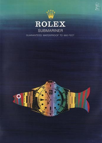 CELESTINO PIATTI (1922-2007). ROLEX / SUBMARINER. Circa 1970s. 50x35 inches, 127x90 cm.