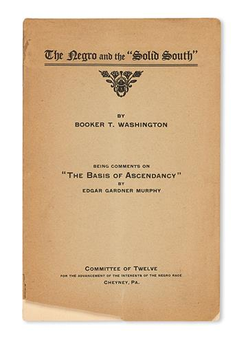 (EDUCATION--WASHINGTON, BOOKER T.) The Negro and the Solid South . . . Being Comments on The Basis for Ascendancy by Edgar Gardner