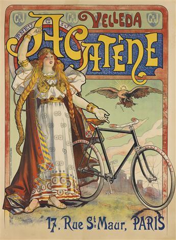 LUCIEN BAYLAC (1851-1913). VELLEDA ACATÈNE. 1898. 62x46 inches, 158x116 cm. Kossuth & Cie, [Paris.]
