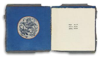 MAY SARTON (1912-1995)  Handmade book containing seven manuscript love poems.