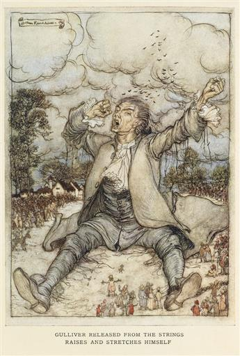 (RACKHAM, ARTHUR.) Swift, Jonathan. Gullivers Travels.