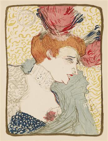 HENRI DE TOULOUSE-LAUTREC (1864-1901). [MARCELLE LENDER.] 13x10 inches, 35x26 cm.