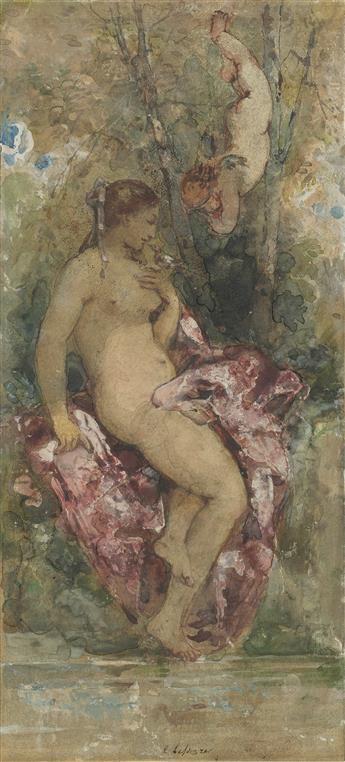ITALIAN SCHOOL, 19TH CENTURY Venus at her Bath.