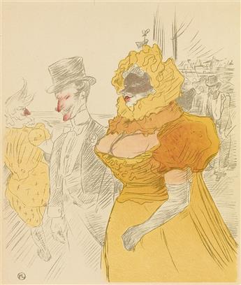 DAPRÈS HENRI DE TOULOUSE-LAUTREC (1864-1901). [LE BAL DES ÉTUDIANTS.] 12x10 inches, 31x26 cm.