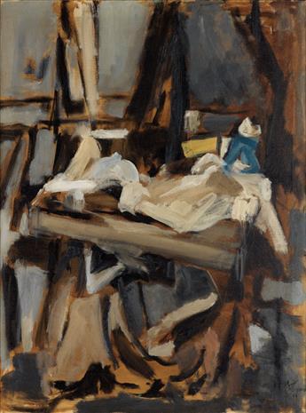 ALMA W. THOMAS (1891 - 1978) In the Studio.