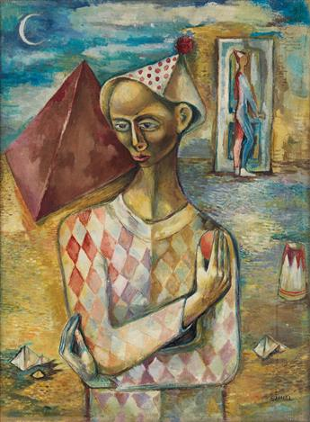 FREDERICK D. JONES (1914 - 2004 ) Untitled (Harlequin).