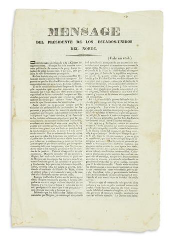 (MEXICAN WAR.) Polk, James K. Mensage del Presidente de los Estados-Unidos del Norte.