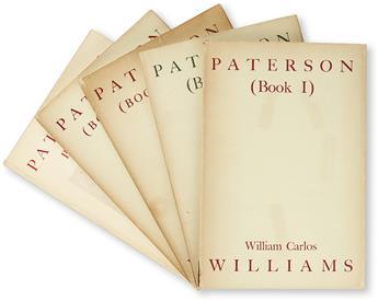 WILLIAMS, WILLIAM CARLOS. Paterson (Books One to Five).