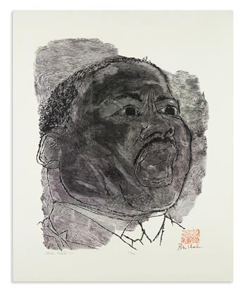 (KING, MARTIN LUTHER.) Shahn, Ben. Portrait of Dr. King.