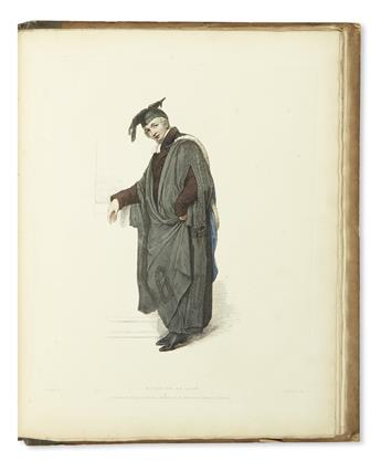 (COSTUME.) Uwins, Thomas. The Costume of the University of Oxford.