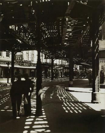 BERENICE ABBOTT (1898-1991) El, 2nd & 3rd Avenue Lines.