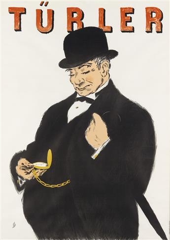 HUGO LAUBI (1888-1959). TÜRLER. Circa 1960. 49x35 inches, 126x90 cm. Gebr. Fretz, Zurich.