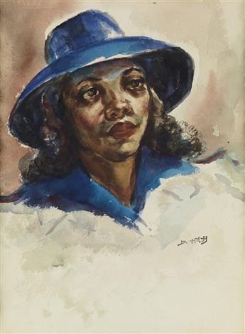 DOX THRASH (1893 - 1965) Blue Hat.