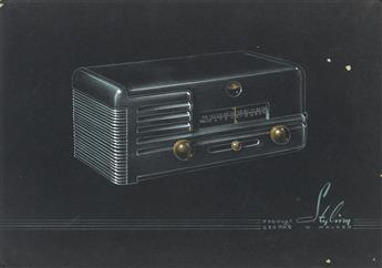 (INDUSTRIAL DESIGN / ADVERTISING.) Designs for RCA Radios.