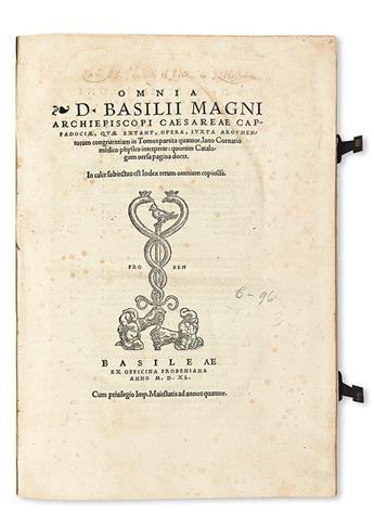 BASIL, Saint.  Omnia . . . quae extant, opera.  1540