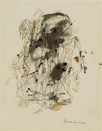 NORMAN LEWIS (1909 - 1979) Untitled (Figure Abstraction).