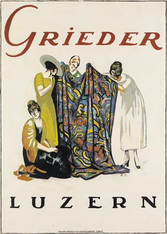 EMIL CARDINAUX (1877-1936). GRIEDER / LUZERN. 1918. 49x34 inches, 125x88 cm. J.E. Wolfensberger, Zurich.