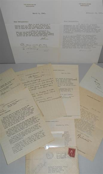 WOOLLCOTT, ALEXANDER. Group of 7 letters, each Signed, in full, A.W., or AWoollcott, including an Autograph Letter and 6 Typed Lett