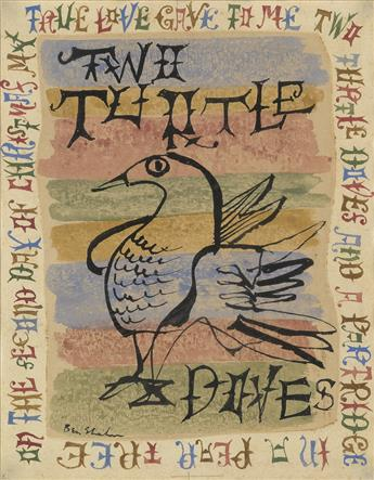 BEN SHAHN Two Turtle Doves.