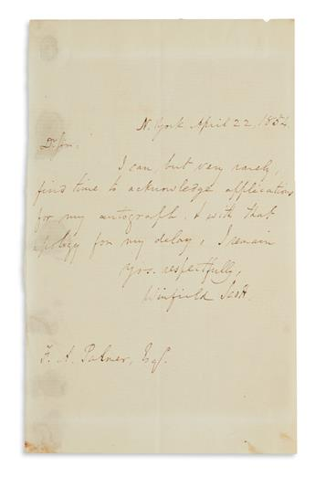(CIVIL WAR--GENERALS--UNION.) Group of 28 items Signed, or Signed and Inscribed, by Union generals in the regular or vol...