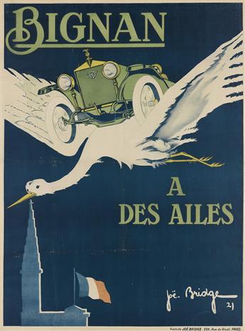 JOE BRIDGE (JEAN BARREZ, 1886-1967). BIGNAN / A DES AILES. 1921. 61x46 inches, 155x117 cm. Joë Bridge, Paris.