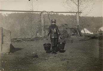 LEWIS W. HINE (1874-1940) Greaser in a coal mine, Bessie Mine, Alabama.
