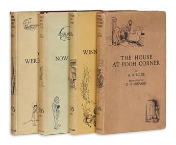 (CHILDRENS LITERATURE.) MILNE. A.A. A Complete set of the Christopher Robin books.