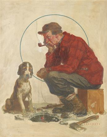 (ICE FISHING.) NORMAN SAUNDERS. Sooner or Later.