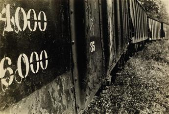 WALKER EVANS (1903-1975) Freight cars.