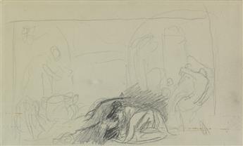GEORGE ROMNEY (Dalton-in-Furness 1734-1802 Kendal) Figures in an Interior (Myhtological Scene).