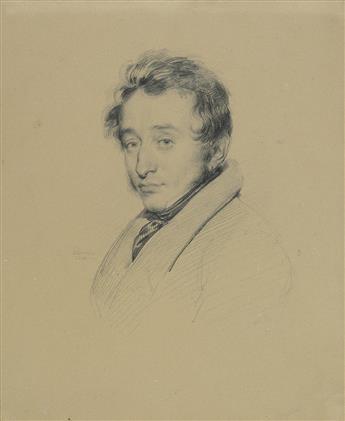 ACHILLE DEVÉRIA (Paris 1800-1857 Paris) Portrait of a Man.